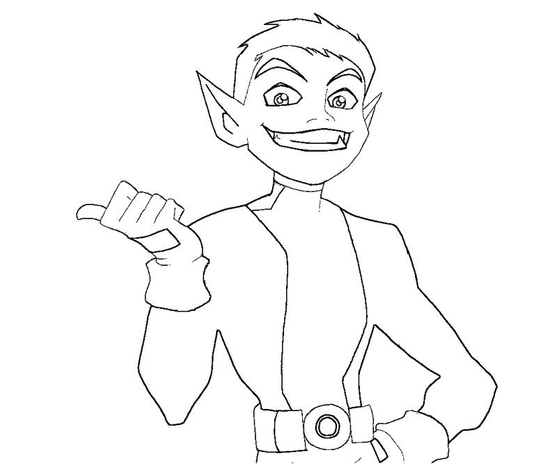 800x667 Teen Titans Beast Boy Coloring Pages Coloring Kids Dc Super