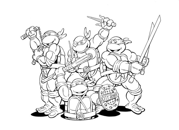 736x535 Teenage Mutant Ninja Turtles Coloring Pages Print Out