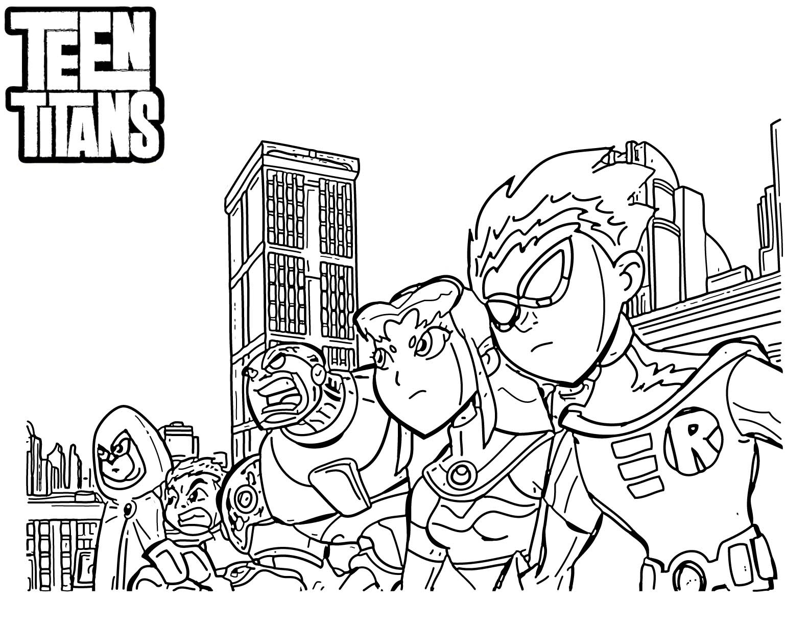 1584x1224 Cartoon Coloring Pages Teen Titans Beast Boy Free Coloring Sheets