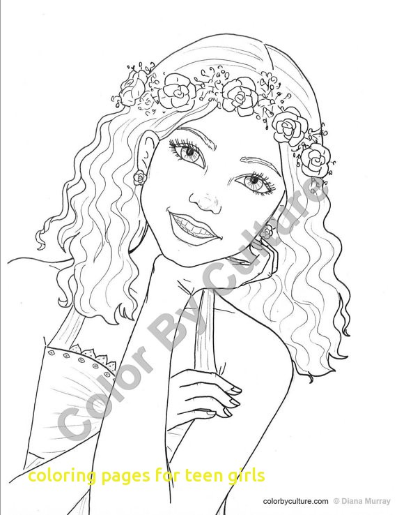 570x738 Teenage Girl Coloring Pages Coloring Pages For Teen Girls