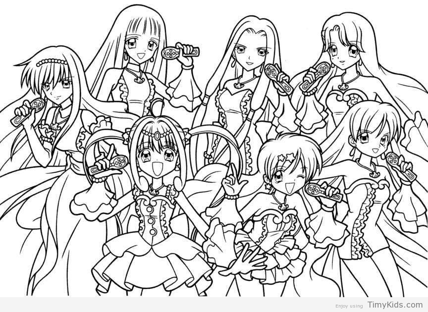864x630 Coloring Pages Teenage Girls Timykids