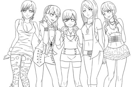 469x304 Teen Bff Coloring Pages For Girls Just Colorings