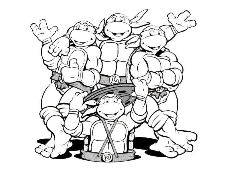 800x600 Mutant Ninja Turtles Coloring Pages