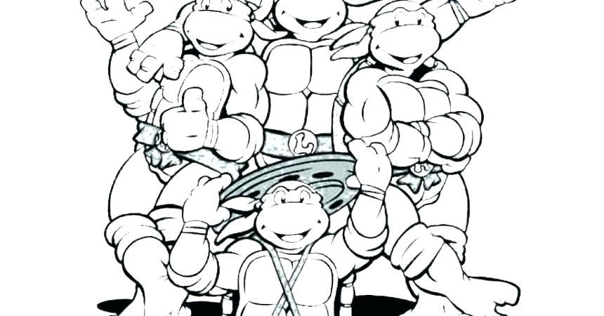 860x450 Teenage Mutant Ninja Turtles Color Pages Printable Coloring Pages