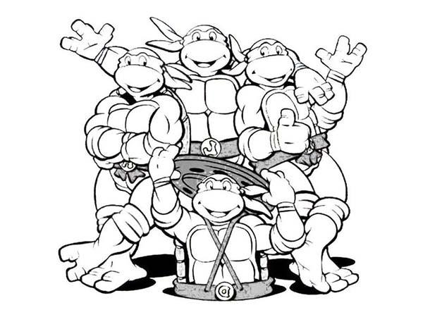 600x450 Teenage Mutant Ninja Turtles Coloring Pages