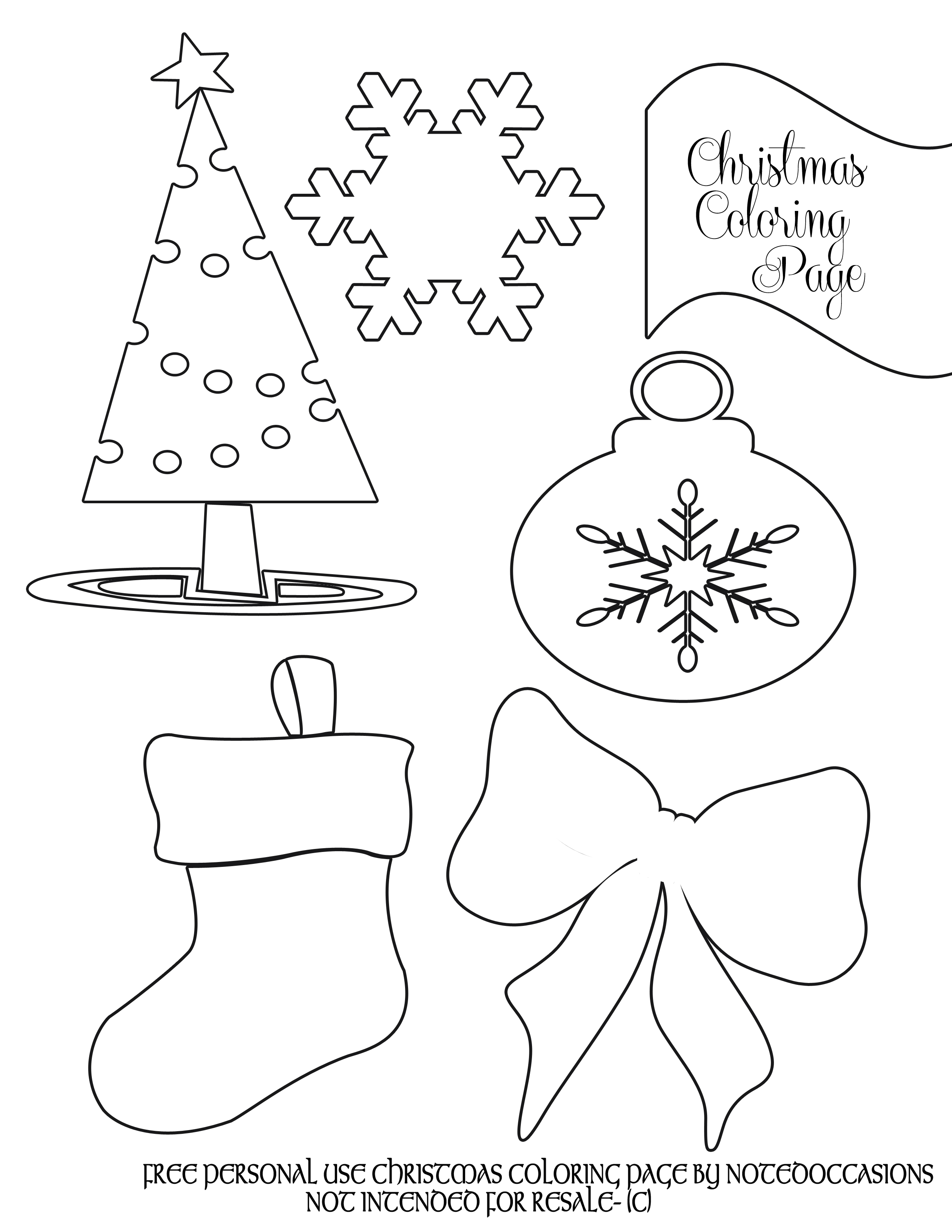 2550x3300 Christmas Colouring Pages For Kindergarten