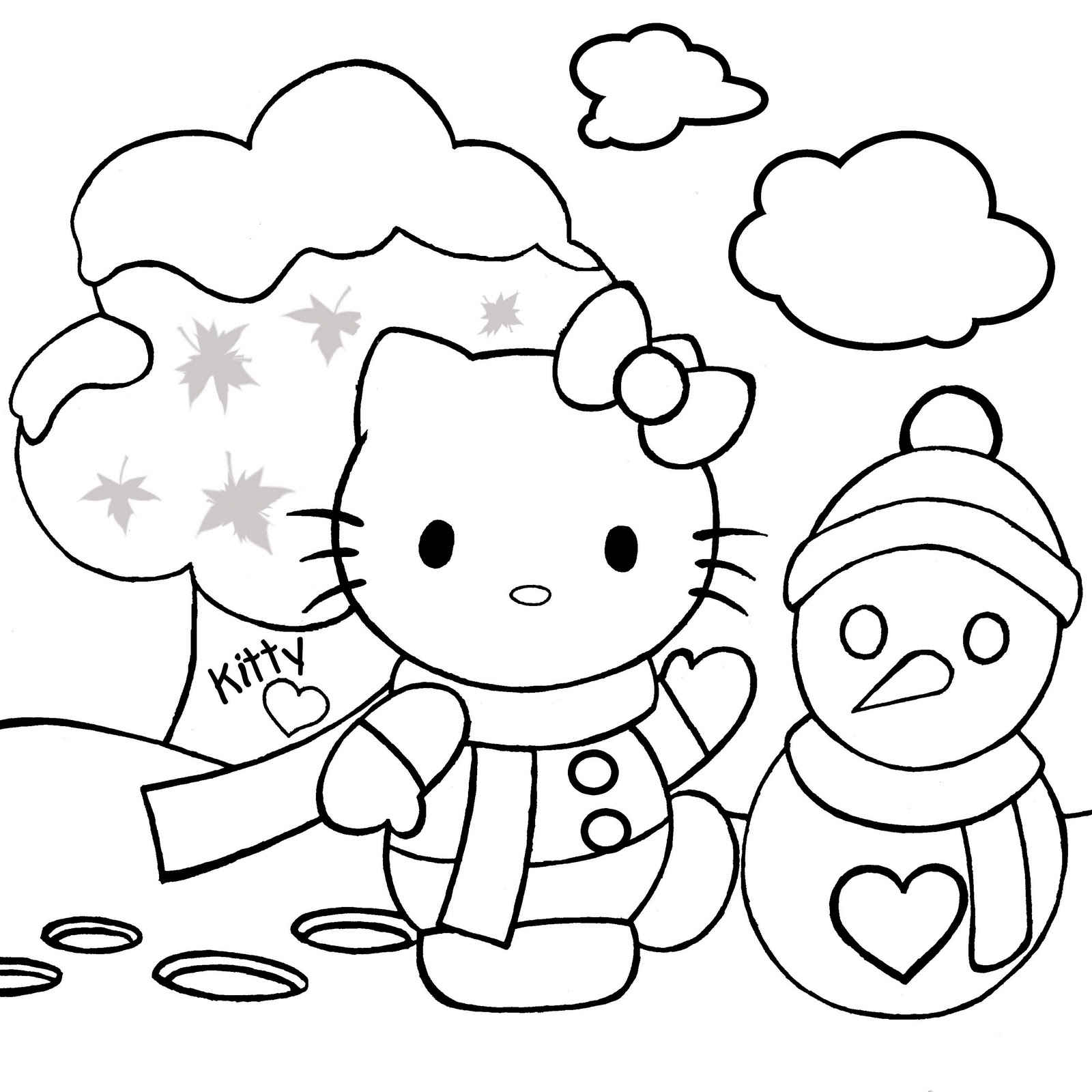 1600x1600 Christmas Colouring Pictures For Children