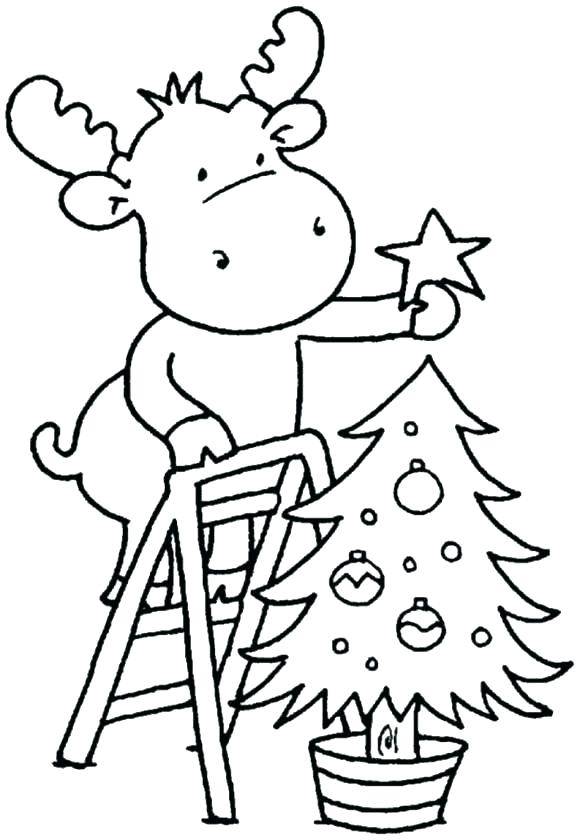 580x840 Toddler Color Pages Animal Childrens Christmas Coloring Pages Free