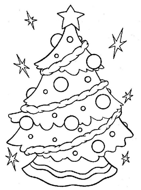 600x807 Children Around A Christmas Tree Coloring Pages