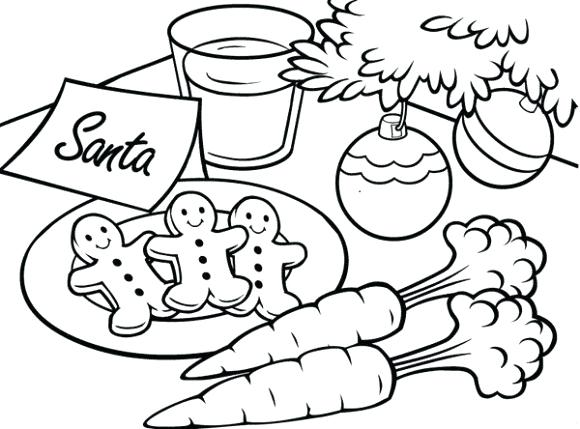 580x429 Childrens Christmas Coloring Pages Children Opening Christmas