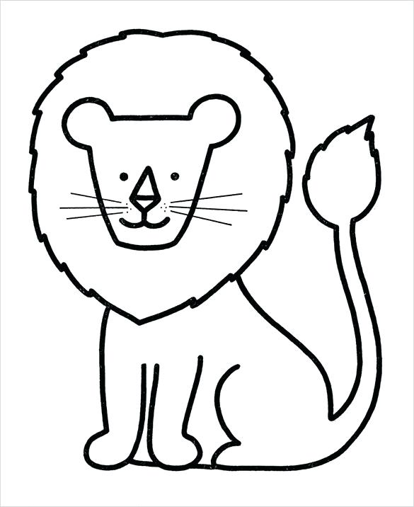 585x716 Coloring Pages For Preschoolers Pdf Lion Preschool Coloring Page