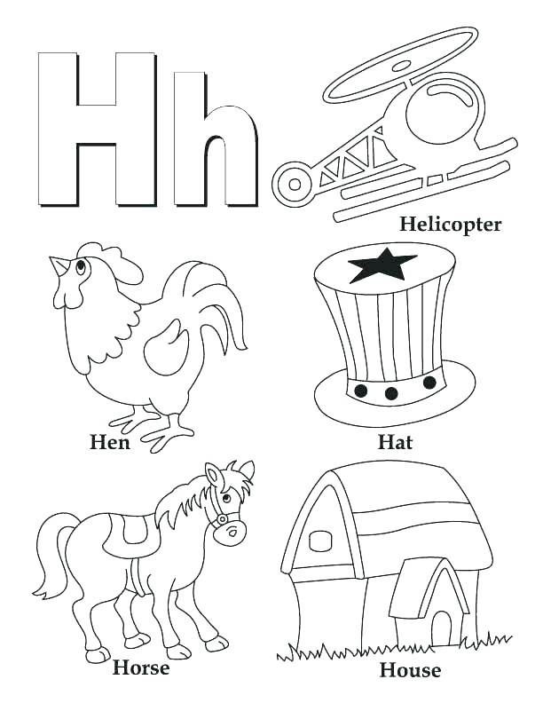 612x792 Abc Coloring Pages For Toddlers Letter O Coloring Page Letter D