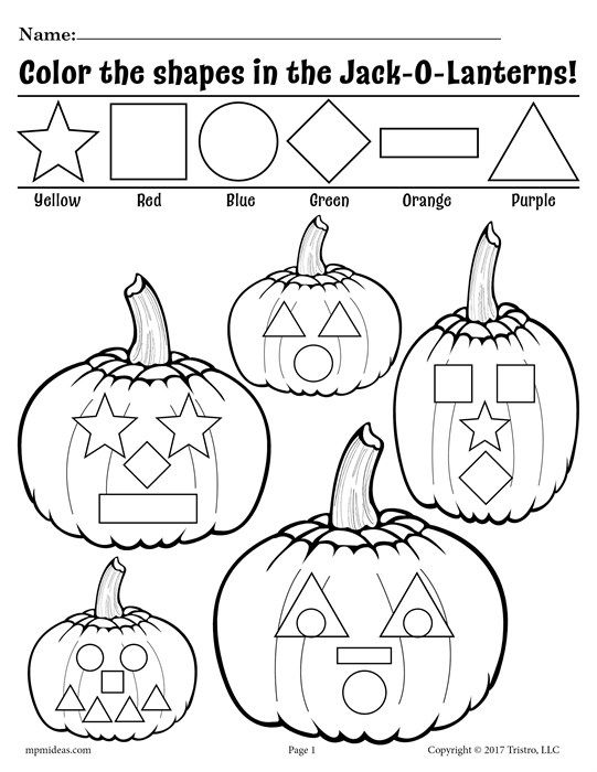 541x700 Free Printable Jack O Lantern Shapes Coloring Pages! Actividades