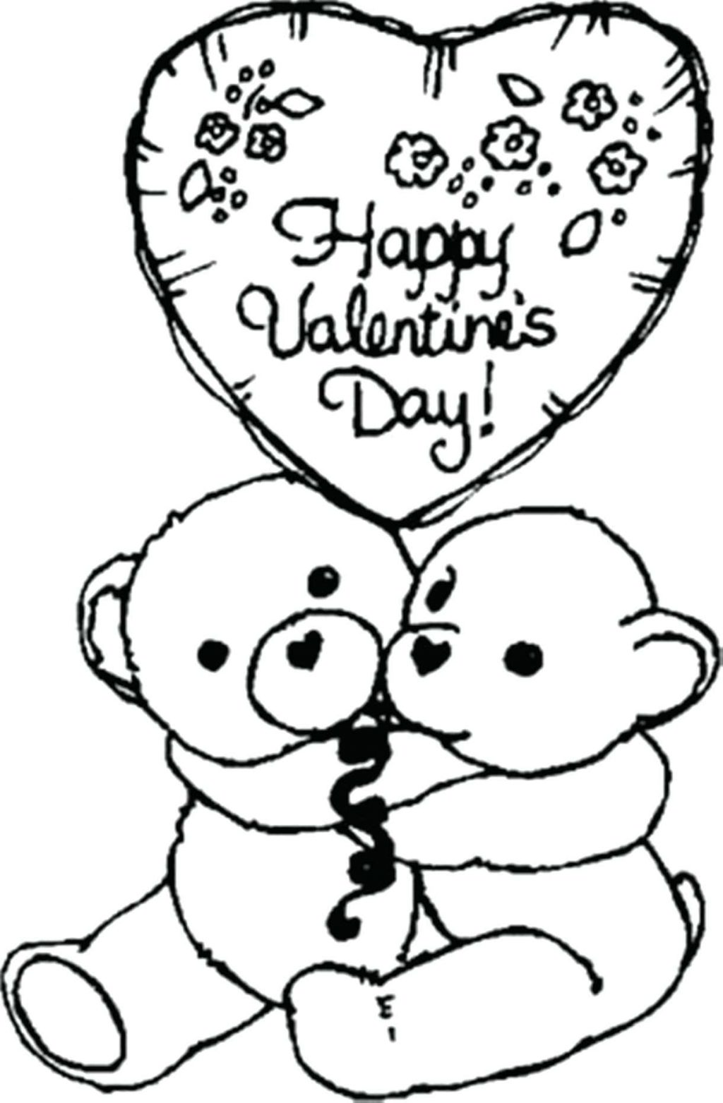 1024x1563 Coloring Pages Valentines Coloring Page Bears Happy Valentine
