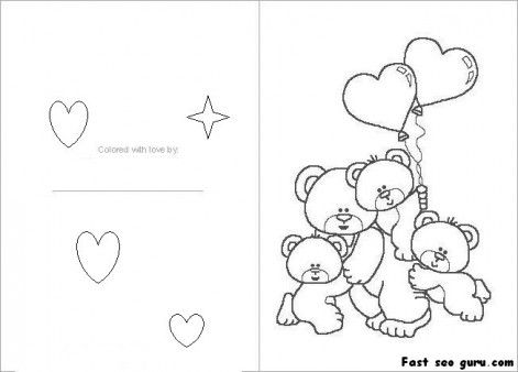471x338 Printable Valentines Day Card Colorin In Card