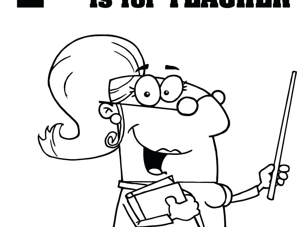 1005x768 Best Teacher Coloring Pages Teacher Coloring Pages Teacher