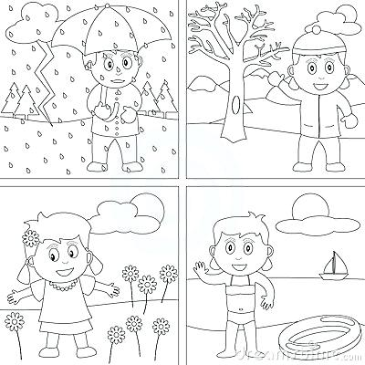 400x400 Seasons Coloring Page Seasons Coloring Pages Four Seasons Coloring