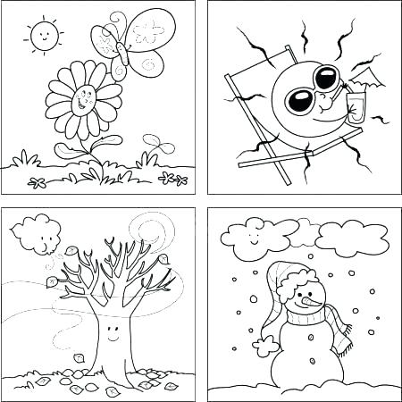 450x450 Seasons Coloring Page Seasons Coloring Pages Get Free High Quality
