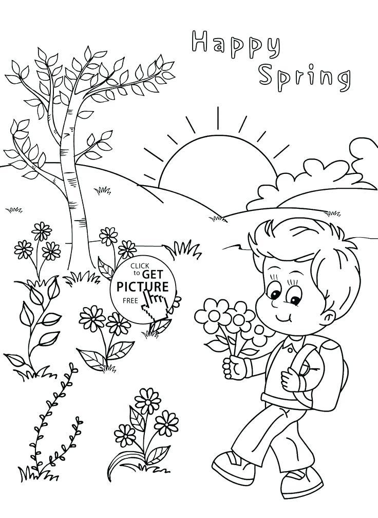 736x1007 Seasons Coloring Page Seasons Nature Seasons A House Buried