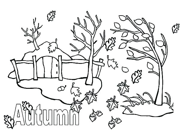 600x450 Seasons Coloring Pages Seasons Coloring Page Coloring Pages Autumn