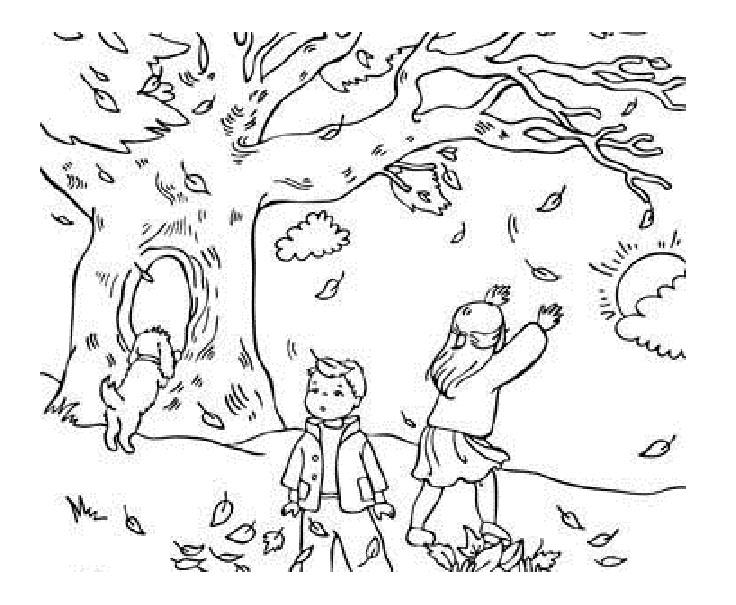 736x605 Autumn Landscape Coloring Pages Coloring Pages