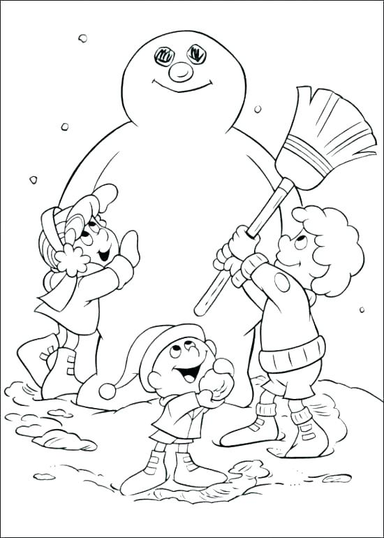 550x770 Frosty Snowman Coloring Page Snowman Coloring Page Frosty