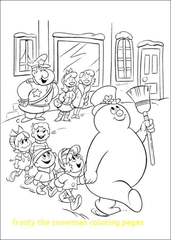 550x770 Frosty The Snowman Coloring Pages As Well As Abominable Snowman