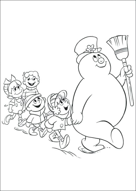 550x770 Frosty The Snowman Coloring Pages Frosty The Snowman Coloring
