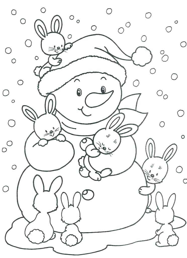 744x1024 Snow Coloring Pages Frosty The Snowman Coloring Pages Free Winter