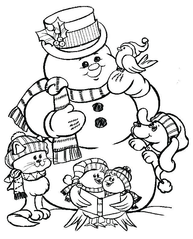 640x791 Snowman Coloring Pages Snowman Coloring Page Frosty The Snowman