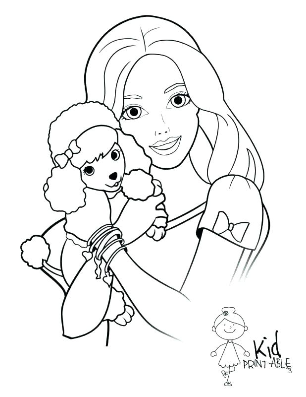618x800 Barbie Free Coloring Pages Free Barbie Coloring Pages Barbie Free
