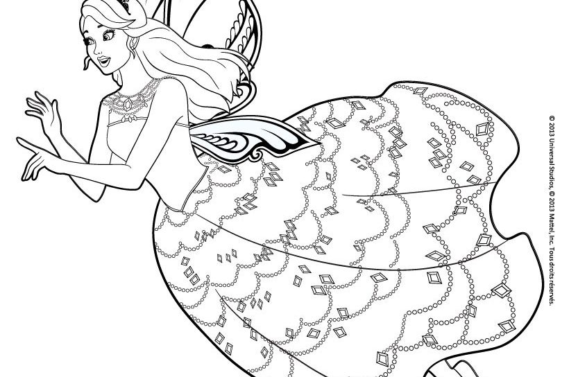 820x544 Free Barbie Coloring Pages Games Online Princess Sheets Mermaid