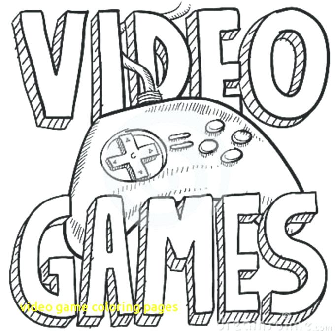 680x680 Games Coloring Pages Video Game Coloring Pages With Video Games