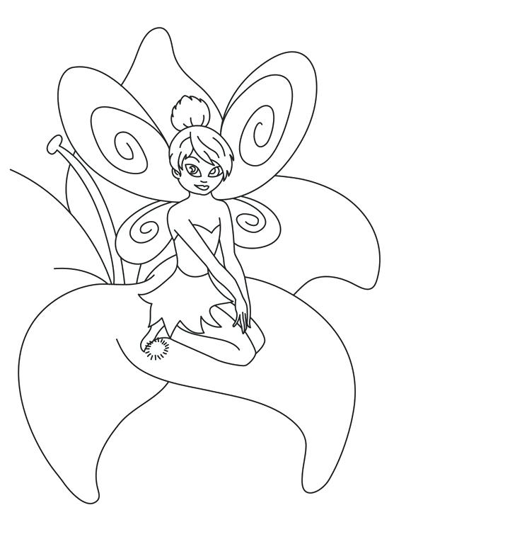 721x775 Tinkerbell Coloring Page Emo Coloring Pages Tinkerbell Coloring