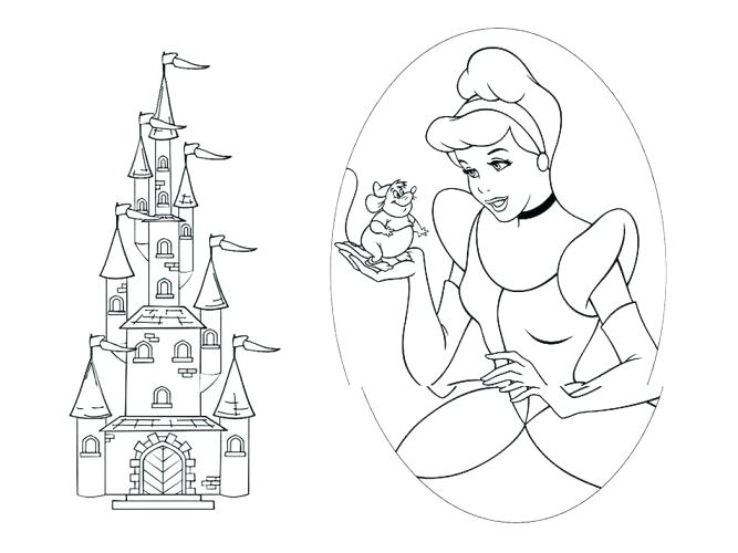 667x500 Cinderella Coloring Pages Medium Size Of Coloring Pages Castle
