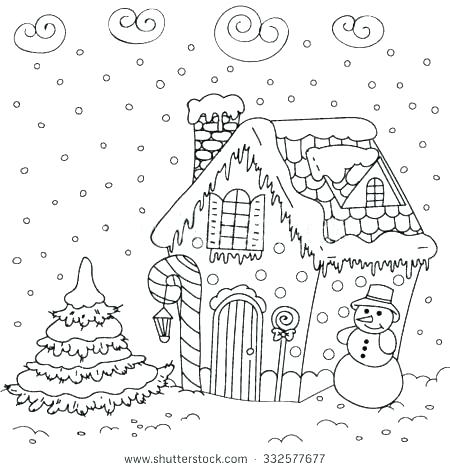 450x470 Gingerbread Girl Coloring Page