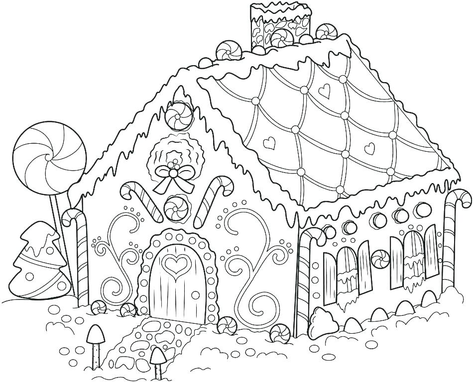 950x768 Gingerbread House Coloring Page Gingerbread Coloring Pages Co