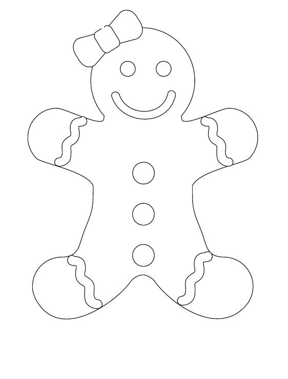 562x738 Smile Gingerbread Girl Coloring Pages Party