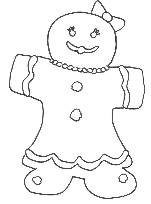 640x866 Gingerbread Coloring Page