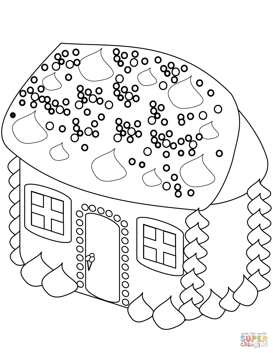 1159x1500 Gingerbread House Coloring Page Free Printable Coloring Pages