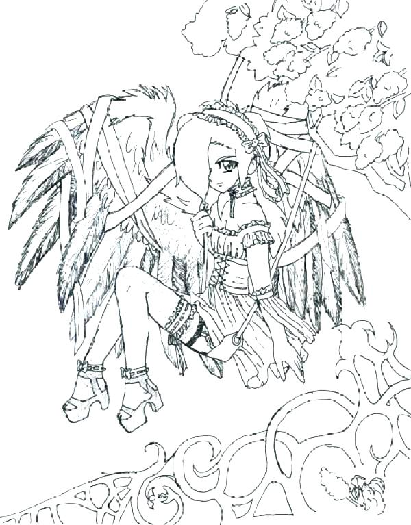 Coloring Pages Gothic Fairies