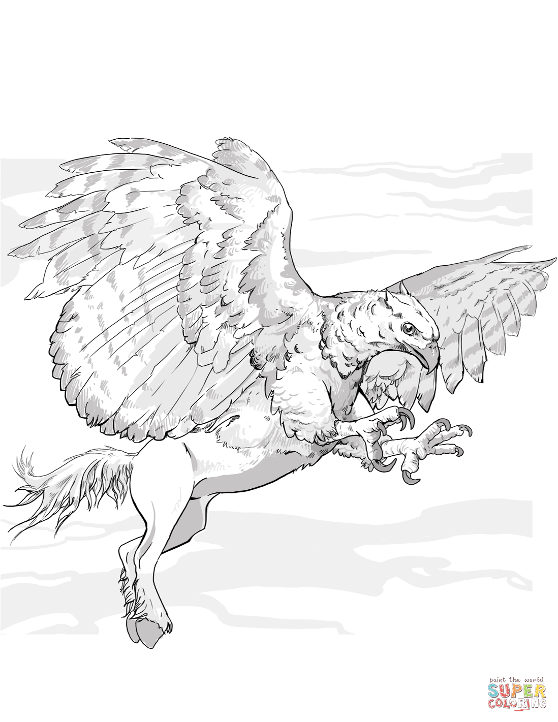 1098x1421 Excellent Griffon Coloring Page Griffin Pages Free