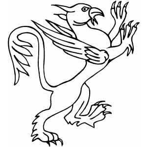300x300 Griffin Coloring Page