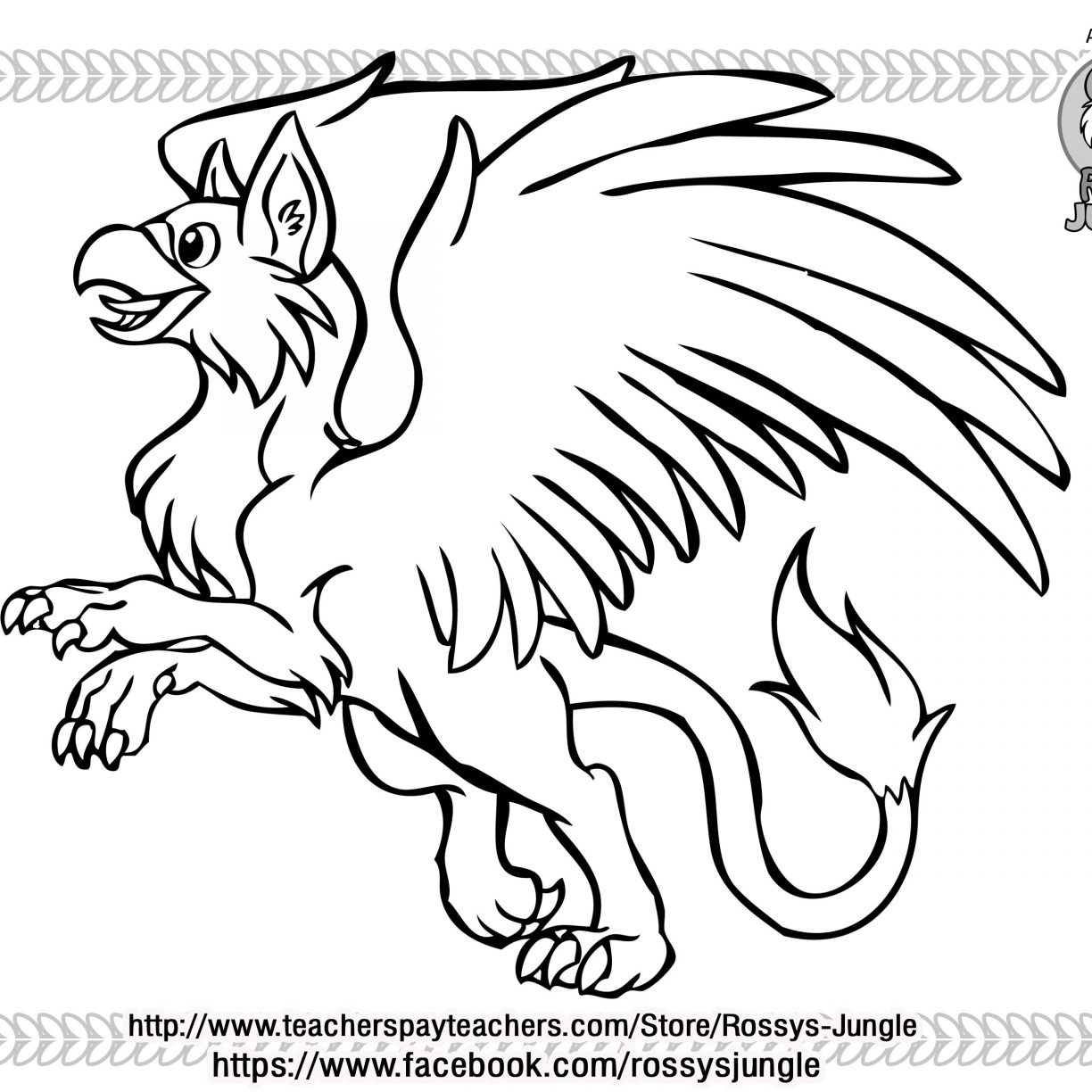 1224x1224 Gryphon Colorings Unusual For Kids Griffin Coloring Pages Adults