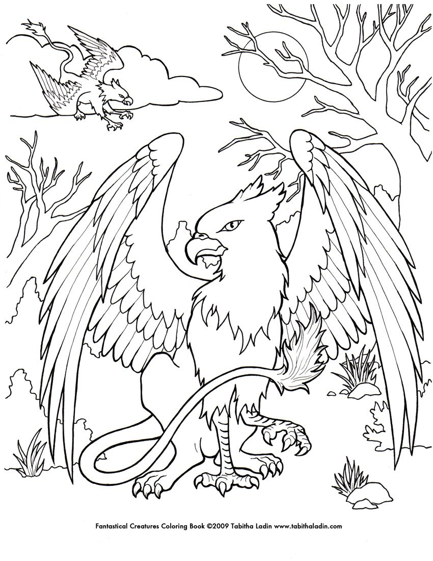850x1100 Mystical Creatures Coloring Pages Free Coloring Pages Coloring