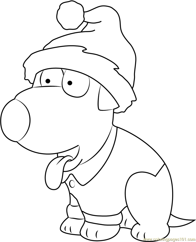 800x987 Brian Griffin Celebrates Christmas Coloring Page