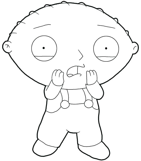 600x684 Stewie Griffin Coloring Pages Family Guy Characters Coloring Page