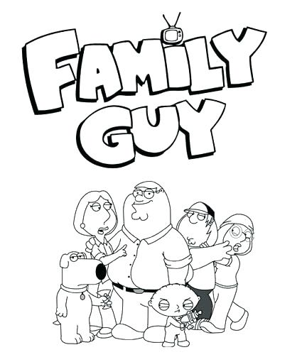 425x510 Coloring Stewie Coloring Pages