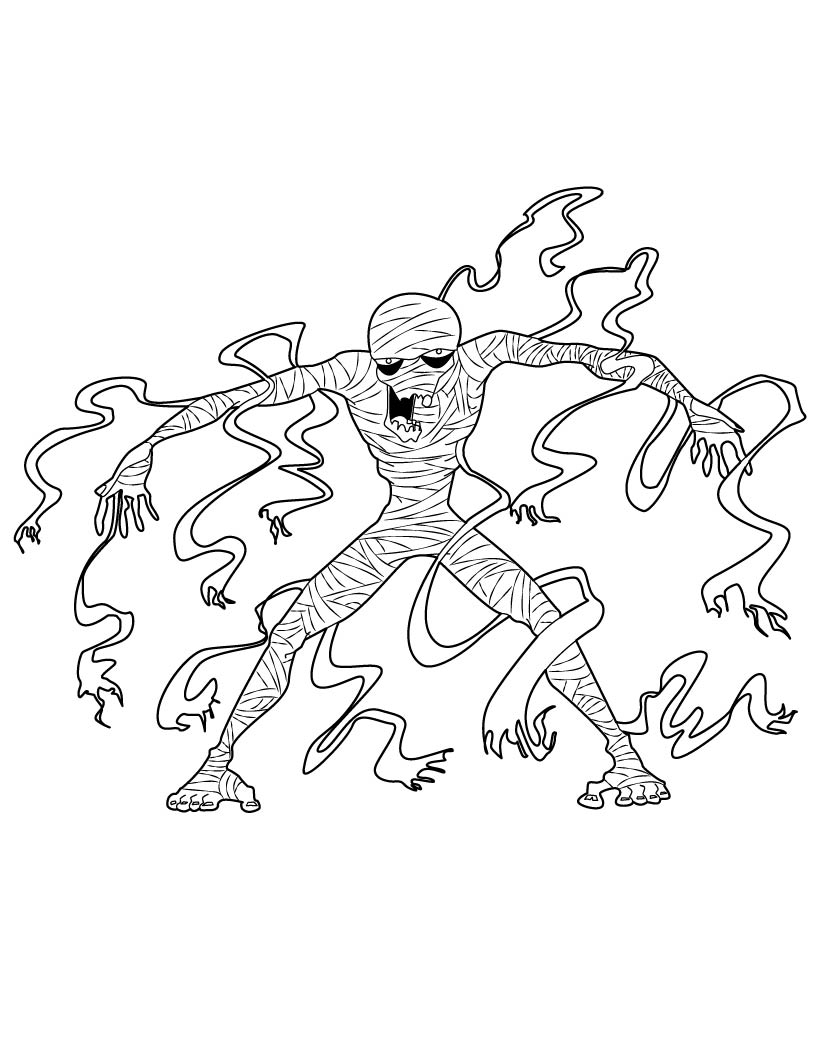 821x1061 Halloween Coloring Pages