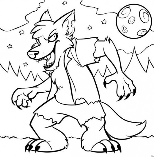 518x529 Monster Spooky Halloween Coloring Pages For Kids